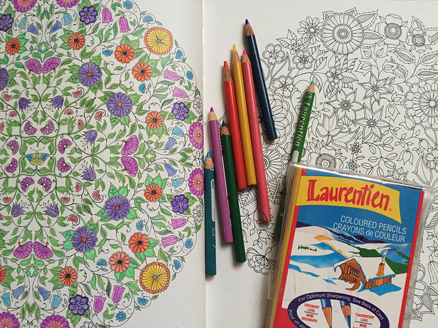 Coloring Book with Pencil Crayons - How to Relieve Stress Through Adult Colouring Books