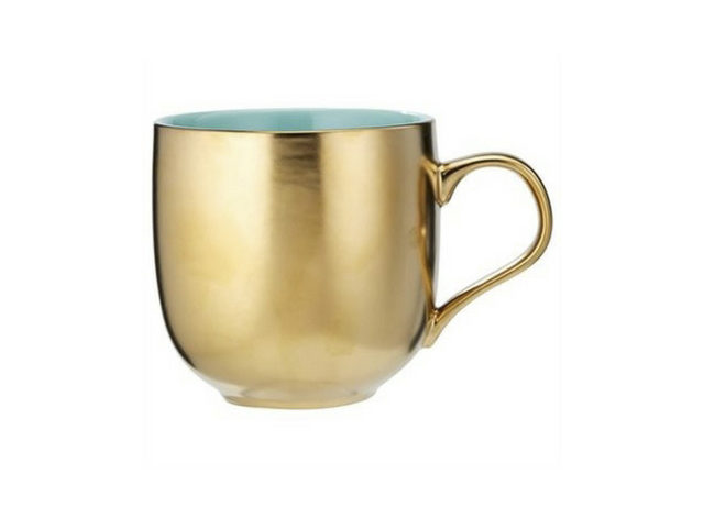 Holiday Gift Guide for Her 2017 - Gold and Aqua Cup