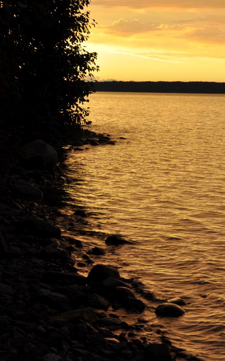The sunrise at Killbear Provincial Park - Lighthouse Point campsite.