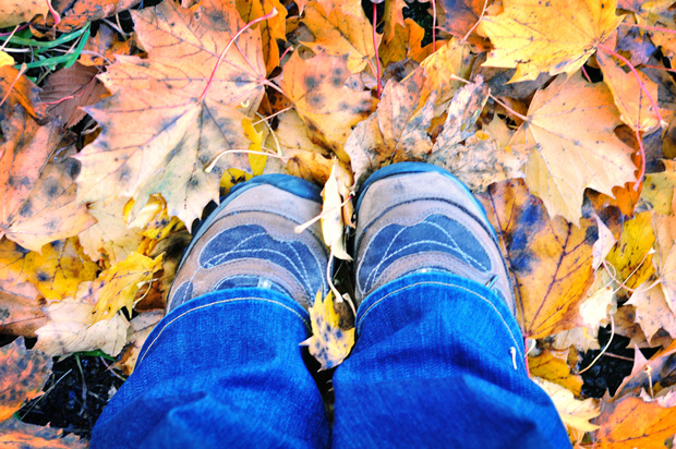 Hiking Boots Fall Leaves n - Proper Hiking Boots For Women: A Must-Have On Trails