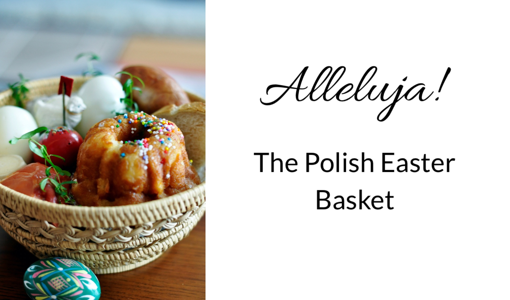 Polish Easter Basket contents