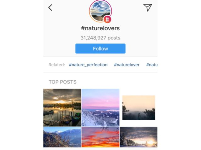 Nature and Outdoor Hashtags