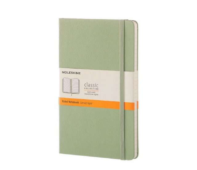 Holiday Gifts for Her 2017 - Moleskine notebook in light green