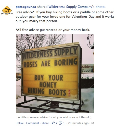Portageur Outdoorsy Sign Buy your honey hiking boots