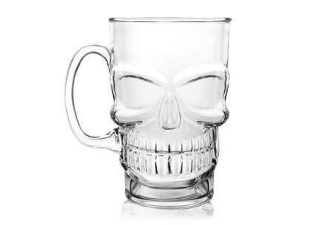 Skull Head Beer Mug Cocktail Emporium - Holiday Gifts for Him