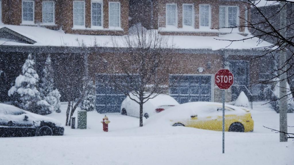Snowstorm February 8 2013 Burlington Ontario sm 1024x575 - February 2013 Snowstorm in Ontario - A Reminder From Mother Nature