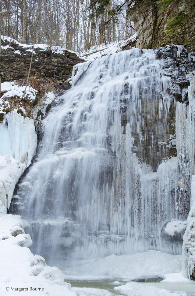 Tiffany Falls in the Winter - Travel Photo: Winter at Tiffany Falls in Ancaster