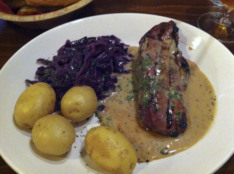 Venison Steak Stornoway - deliciousness