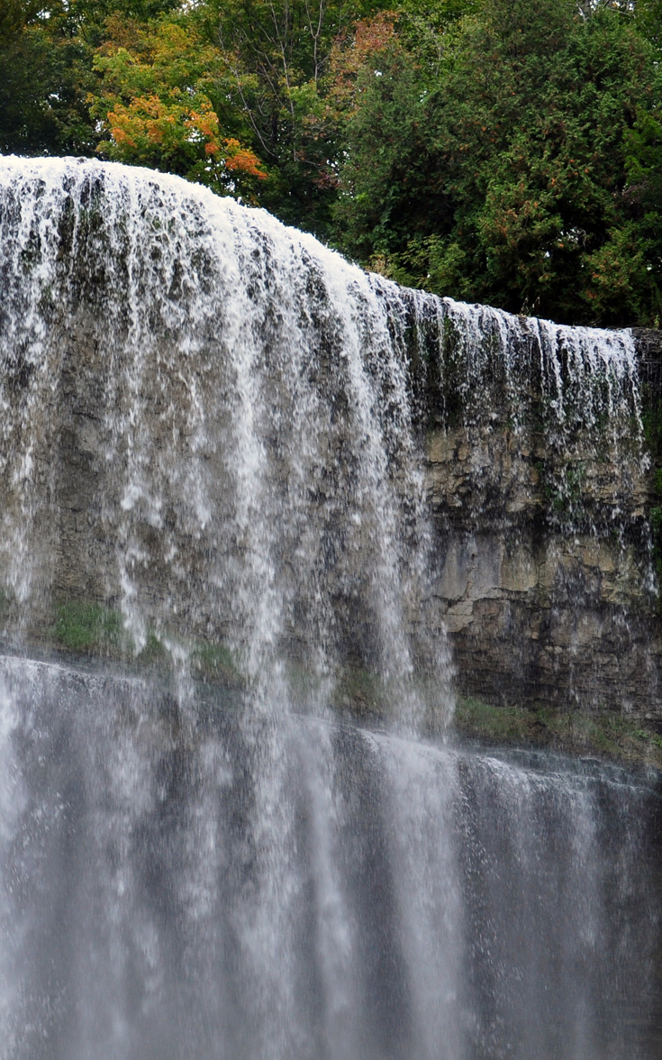 The beautiful Webster's Falls in Hamilton, Ontario: one of the top places to visit for day trips from Toronto.
