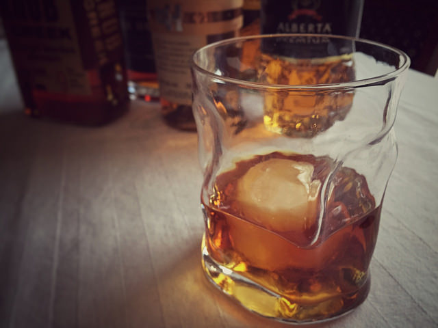 Scents that trigger fond memories - whisky in a rocks glass.